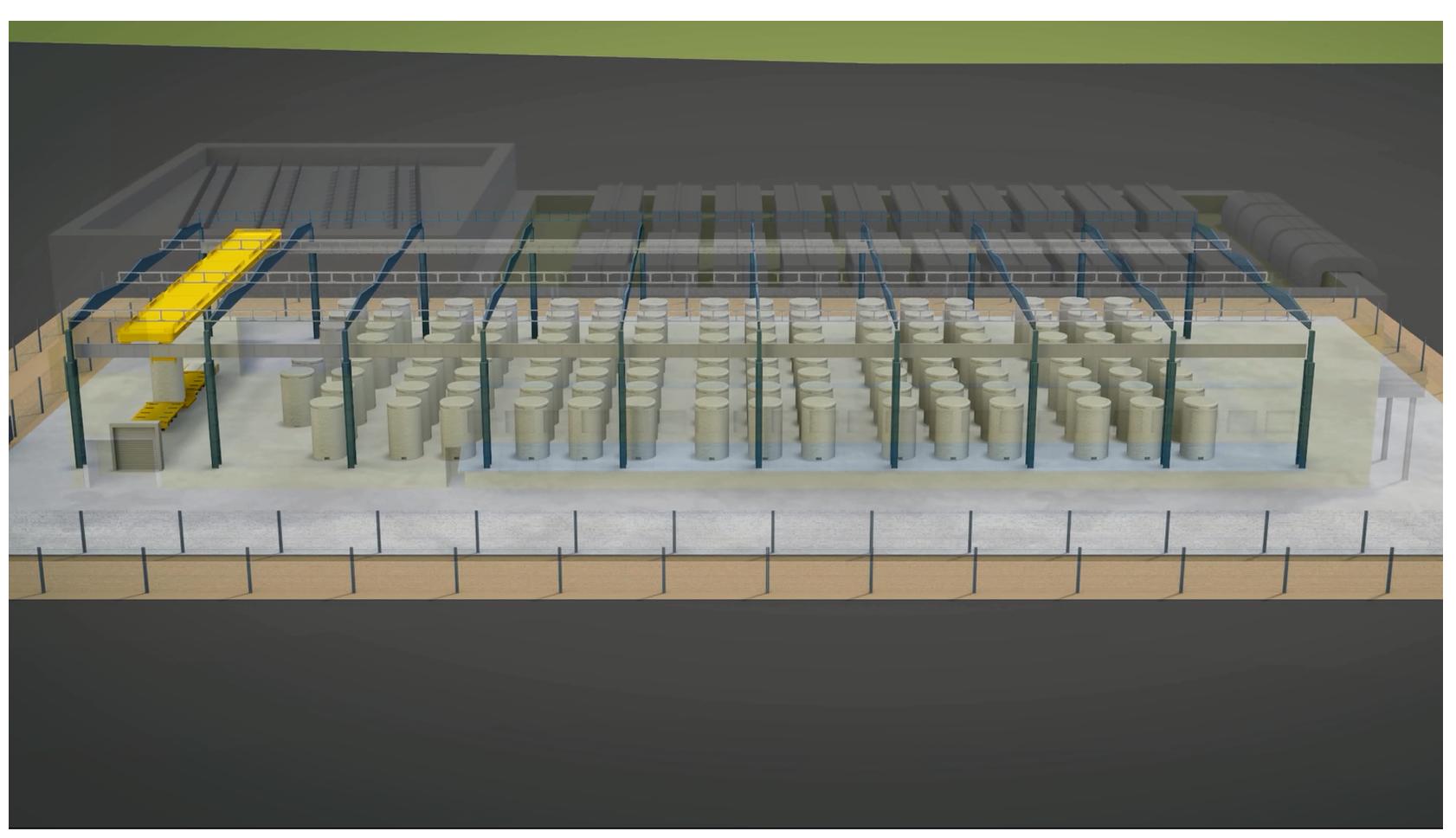 第2期-室內乾式貯存設施透視圖