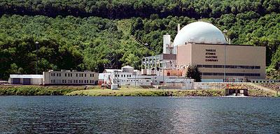 Yankee Rowe核能電廠除役前後廠址對照圖(除役前)